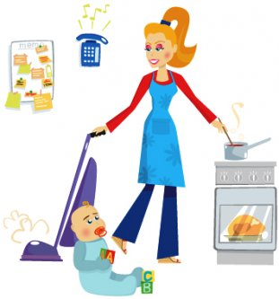 how to clean your house with a newborn and a preschooler