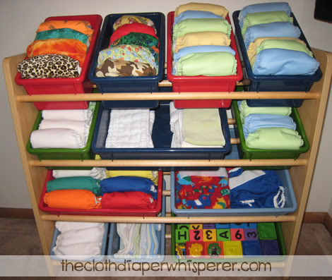 cloth diaper addict: how to organize your stash without losing