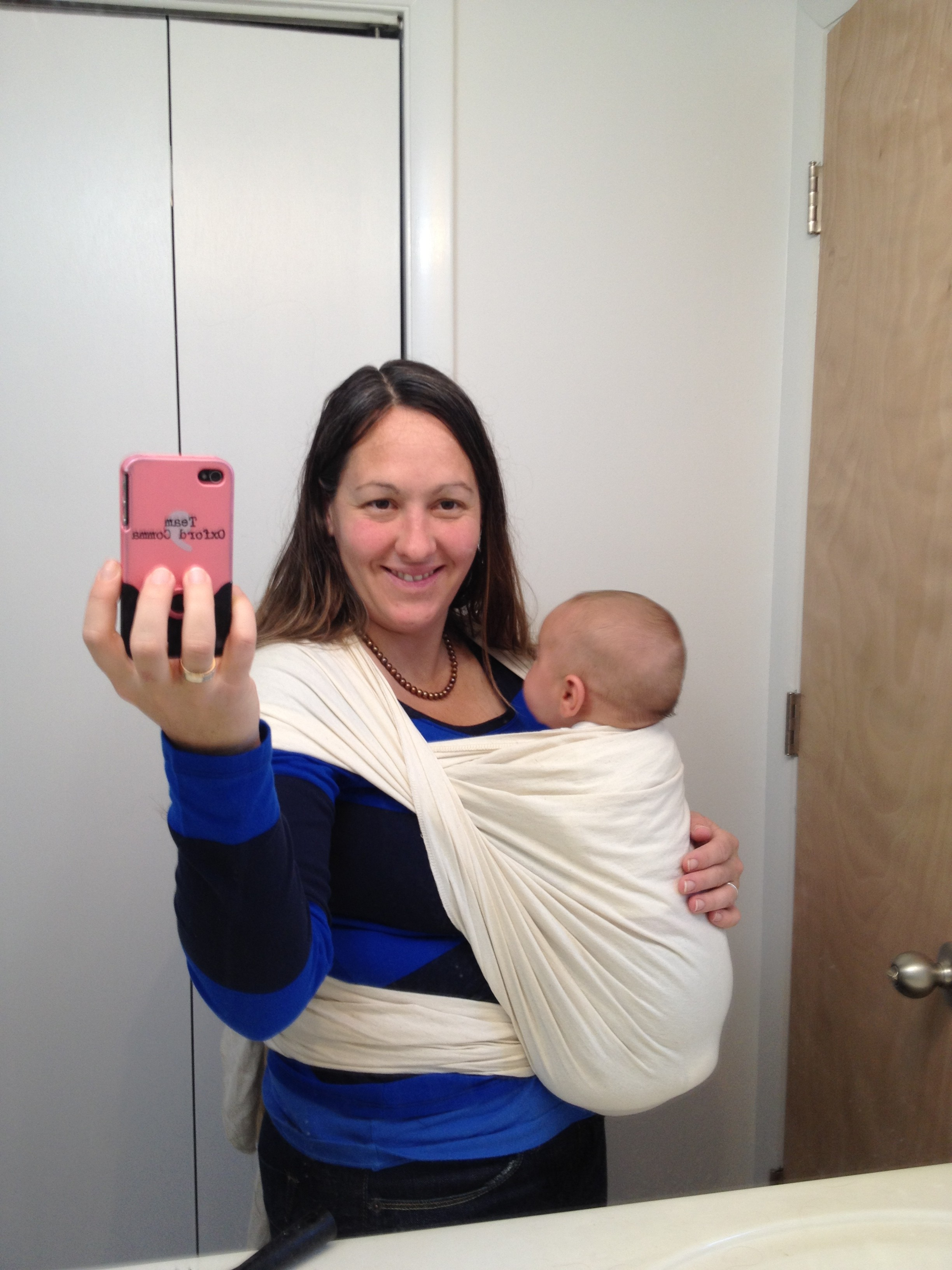 best looking ways to tie a wrap with a newborn